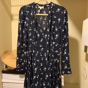 GB navy long sleeve dress